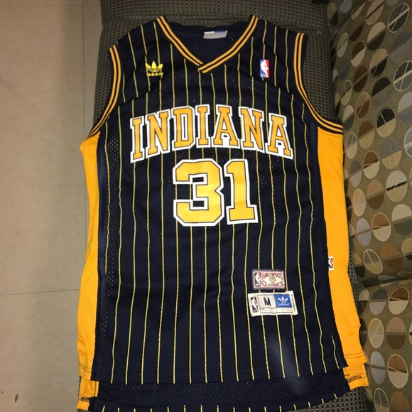 buy online 2db78 cc4b0 Reggie Miller Indiana Pacers Throwback jersey